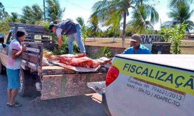 Adapec apreende cerca de 180 kg de carne imprópria para consumo em Barrolândia 1