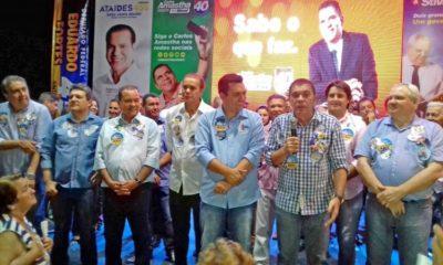 Em Gurupi, Vicentinho antecipa 2º turno e Amastha firma compromissos com a região Sul